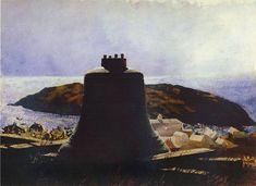 'Obelisk', wasserfarbe von Jamie Wyeth