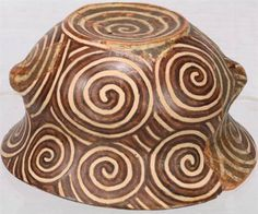 Earliest Op-Art? Little is known about the Cucuteni-Trypillians. Excavation data revealed that they lived in proto-cities in what is now Romania, Ukraine and the Republic of Moldova. Their op-art like pottery, as shown in the piece here, was dominated by repeating lines, circles and spirals. Image: Rosi Fontana / Rossella Lorenzi