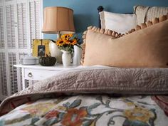 ">> Ways to Make Your Home Feel ""Cozy"" For CHEAP!! << -- Layer up your bedding."