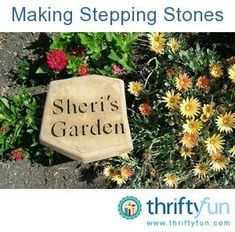 This guide is about homemade stepping stones. That well worn path can be paved with inexpensive stepping stones. using half flat plastic containers. Homemade Stepping Stones, Concrete Stepping Stones, Garden Stepping Stones, Mosaic Pots, Pebble Mosaic, Mosaic Garden, Garden Crafts, Garden Projects, Garden Art
