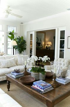 Home Interior Contemporary neutral_living_room.Home Interior Contemporary neutral_living_room Boho Chic Living Room, Home Living Room, Living Room Designs, Elegant Living Room, Beautiful Living Rooms, Formal Living Rooms, Decorating Coffee Tables, Coffee Table Arrangements, Home Fashion