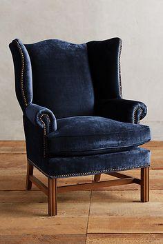 Slub Velvet Ludlowe Chair - anthropologie.com