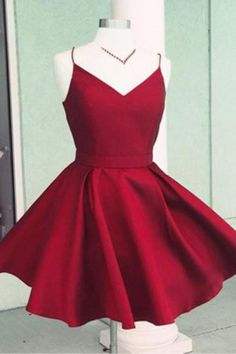 ac0fc40d826 Open Back Simple Red Short Homecoming Dresses Under 100