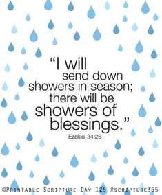 Ezekiel 34:26. Showers of blessing. 8x10 DIY Printable Christian Poster.Bible Verse.. $6.50, via Etsy.