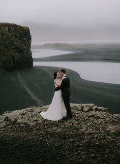 This gorgeous Iceland Elopement is the ultimate destination wedding/elopement. Gorgeous views of the water and cliffs.