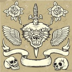 Resultado de imagem para tattoo old school cranio