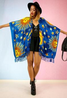 NEW Fringed Festival Kimono Jacket