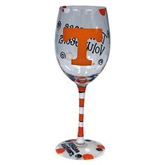 VOLUNTEERS! Tennessee Volunteers Orange and White Hand Painted Wine G... https://www.amazon.com/dp/B01BB4T0W2/ref=cm_sw_r_pi_dp_x_Z9hLzbSEJQNR6
