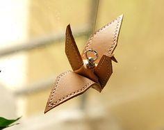 100% Handmade Key Chains - Cute Bird Key Ring - Crane Chains Bag Charm Favors Gift