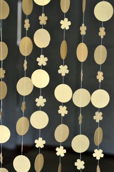 circle garland Gold party decorations, girl's birthday, Wedding, Baby Shower, Holidays, Christmas garland