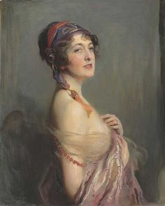 Philip Alexius de László (1869-1937), Mrs Wilfrid Ashley, later Lady Mount Temple, née Miss Muriel (Molly) Spencer and formerly the Hon. Mrs Forbes-Sempill, 1920. Oil on canvas. 31.3/4 x 25.7/8 in. (80.7 x 65.8 cm.) Estimate: £40,000-60,000. This work is offered in the Victorian, Pre-Raphaelite & British Impressionist Art sale on 16 December at Christie's London