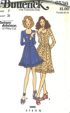 I made this as a senior in high school. For It was an aqua knit with brown detailing. Vintage Outfits, Vintage Fashion, Vintage Beauty, Vintage Dresses, Betsey Johnson, Seventies Fashion, Make Your Own Clothes, Vintage Dress Patterns, Vintage Mode