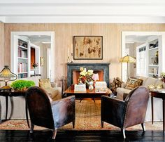 Living room - Hollywood Powerhouse Sandy Gallin Shifts His Talents to Interior Design