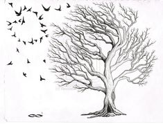 Oak Tree Tattoo - one side stable and reasonable, the other grandiose and wild
