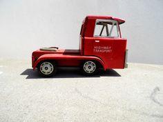 Vintage Metal Truck Red Metal Truck Tin Truck by PaperWoodVintage, $11.00