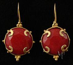 "Beautiful handmade ""artifact"" earrings"