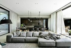 Sofa is by Living Divani - 'Extrasoft'. Designed by Workroom and built by Agushi, Kooyong House in Melbourne's Toorak is an urban oasis with architecture and interiors working together seamlessly Home Living Room, Living Room Designs, Living Room Furniture, Living Room Decor, Living Spaces, Space Furniture, Dining Room, Lounge Furniture, Dining Tables