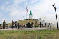 Символ Красноярска - часовня Параскевы Пятницы на Караульной горе. Изображена на 10-рублёвой купюре