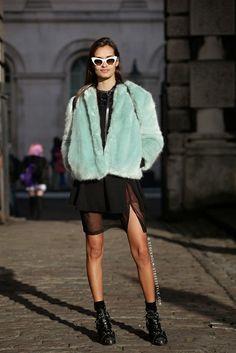 Parisienne: Go guilt-free and wear glamorous faux fur