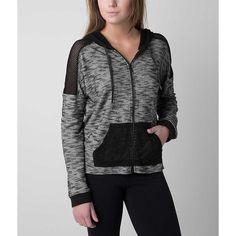 Hurley Kara Sweatshirt ($40) ❤ liked on Polyvore featuring tops, hoodies, sweatshirts, black, sweatshirt hoodies, hurley hoodie, hooded pullover, hurley hoodies and zip up hoodies