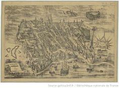 Plan de la ville de Bordeaux en 1550 / Adolphe Hequet, del - 1