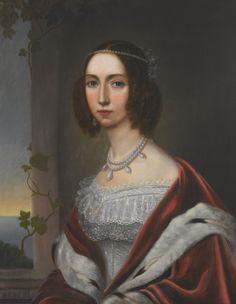 Joséphine de Beauharnais (1807-1876), Queen of Sweden. Unknown artist.