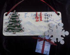 Barnsley Crafter: Christmas Countdown Plaque