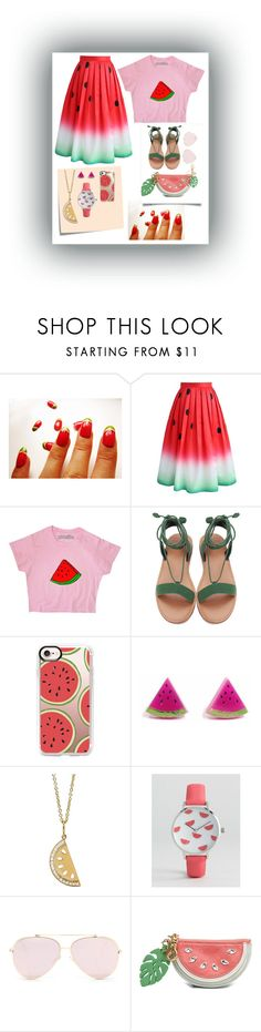 """Watermelon 🍉 Theme"" by livvydubs ❤ liked on Polyvore featuring Chicwish, Post-It, Casetify, Finest Imaginary, Sydney Evan, ASOS and See by Chloé"