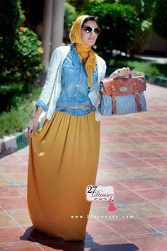 Yellow maxi skirt www.justtrendygirls.com/summer-maxi-dresses-by-27dressez/