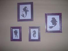 Little Mermaid, Ariel art, framed nursery art, disney princess silhouette, once… - Modern Little Mermaid Nursery, Mermaid Room, Ariel The Little Mermaid, Mermaid Bathroom, Disney Princess Silhouette, Little Mermaid Silhouette, Sea Nursery, Nursery Art, Girl Nursery