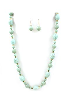 Mint Turquoise Necklace On Emma Stine Limited
