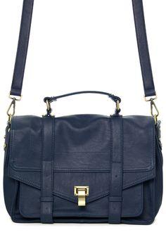 Navy Vintage Satchel Bag - sale - Retro, Indie and Unique Fashion