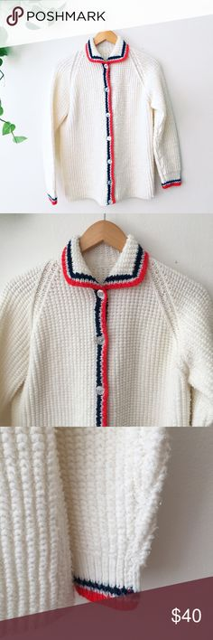 VINTAGE / Knitted Cardigan In great condition--like new! NOT by FP Free People Sweaters Cardigans