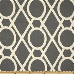 Robert Allen Lattice Bamboo Greystone Pattern