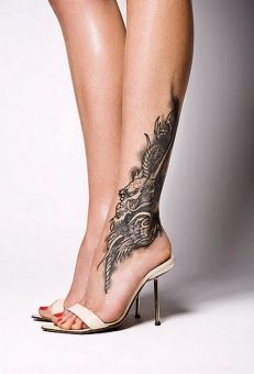 Ankle tattoos - Are they worth the pain? Anyway, I like the placement of this one, for a tree.