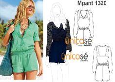 Para la playa o para la noche, cómo lo prefieres? Busca el molde en www.unicose.net / Código 1012320