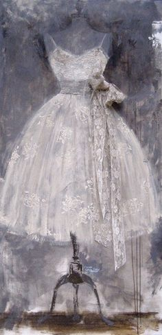 Lace dress painting | The House of Beccaria~