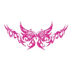 Pink y2k style butterfly tattoo print Y2K Butterfly Pin...