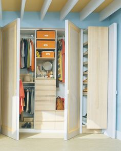 Hard-to-reach areas are a closet's no-man's-land. A spring-loaded pull-down rack, which you can install yourself, solves the problem. A light tug on a handle positioned in the center of the rod brings clothes to you. The racks are sold on the web and through some closet and organizing stores.