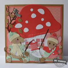 Book Crafts, Paper Crafts, Marianne Design Cards, Create A Critter, House Mouse, Cricut Cards, Animal Projects, Kids Cards, Cute Cards
