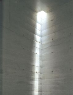 Beautiful redirected daylight reflecting on concrete walls _