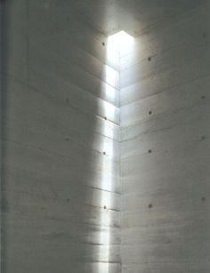 Beautiful redirected daylight reflecting on concrete walls _