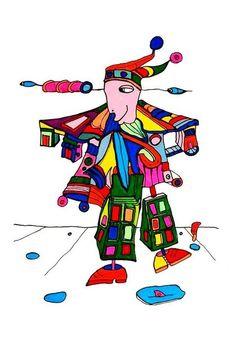 Pylokraten VIII von Etelka Kovacs-Koller - mad for art auf DaWanda.com Illustration, Artworks, Disney Characters, Fictional Characters, Mad, Etsy, Drawing S, Illustrations, Fantasy Characters