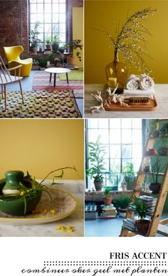 Interior Styling, Interior Design, Yellow Home Decor, Yellow Walls, Love Home, Tropical Decor, Decorating Small Spaces, Mellow Yellow, Creative Home