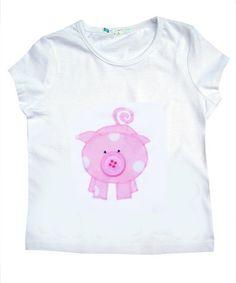 Pig+TShirt+/+Girls+Tee+Shirt+/+Animal+Top+/+by+WithHugsandKisses