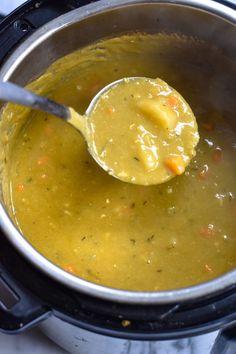 Vegan Instant Pot Spilt Pea Soup - Thyme & Love