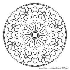 Mandala series 4 - mandala templates to print off and colour in