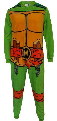 Teenage Mutant Ninja Turtle Michaelangelo Union Suit Pajama