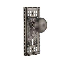 Nostalgic Warehouse New York Privacy Door Knob with Craftsman Plate Finish: