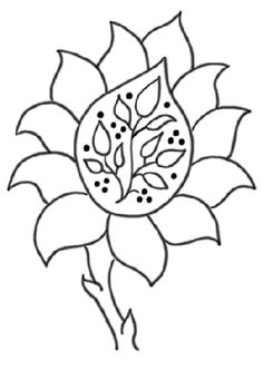 Embroidery Pattern: William Morris Flower Thingy